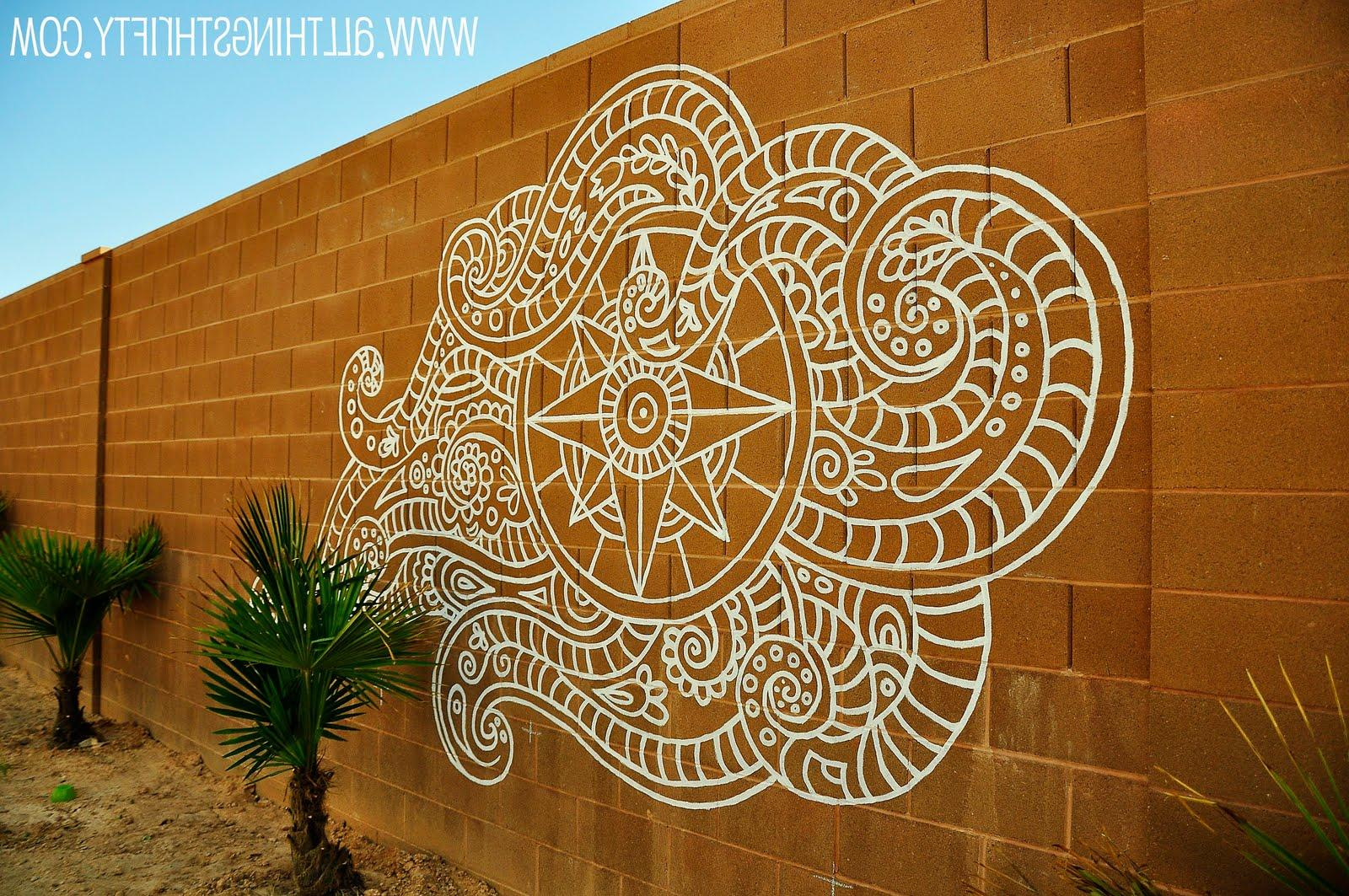 Backyard Wall Mural