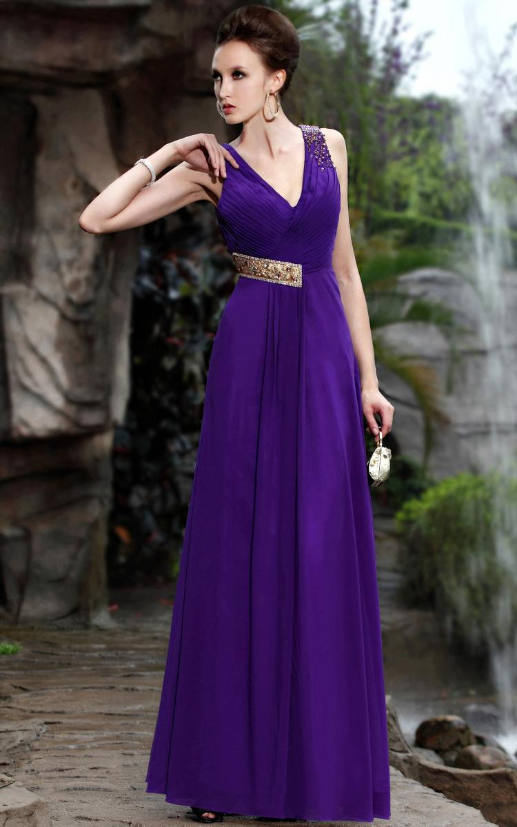 Elegant purple Satin Silk