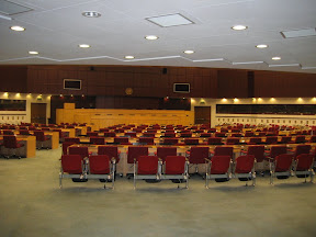 A typical conference room at the UN convention center