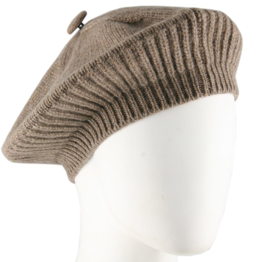 Taupe Cashmere Beret