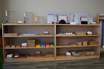 This Montessori math shelf gives a good impression of the breadth and systematic structure of the lower elementary Montessori math curriculum.
