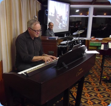 Alan finished off the fantastic concert by playing solo piano on our Yamaha Clavinova CVP-509. Photo courtesy of Laurie Conder.