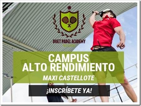 Campus Pádel Alto Rendimiento Duet Academy con Máxi Castellote y su equipo, verano 2015.