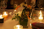 Each table had a beautiful floral center piece