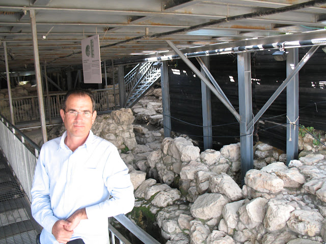 next to possible remains of king david palace.JPG