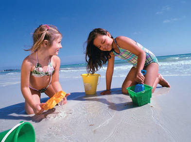 Children playing on the beach of Siesta Key Clearwater image