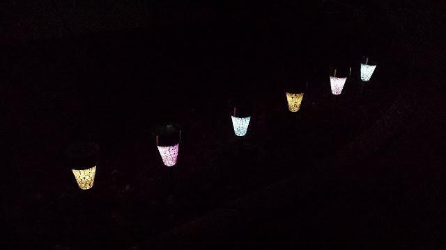 Solar-powered decorative night lights