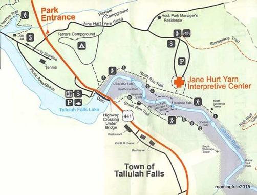 Tallulah Gorge Trail Map