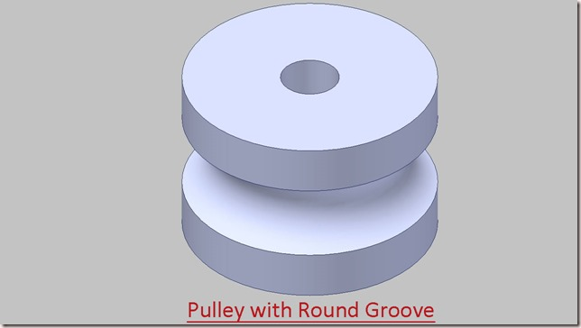 Pulley with Round Groove_1