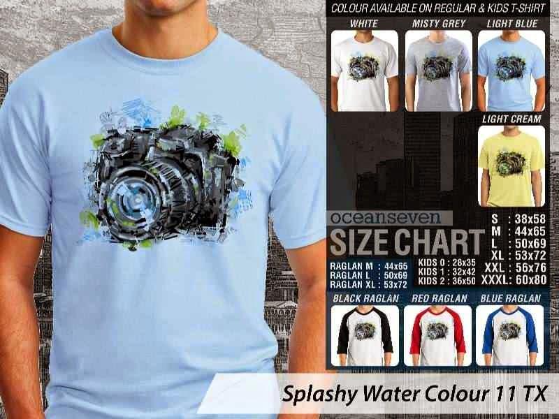 Kaos artwork keren Splashy Water Colour 11 Kamera Camera Photography distro ocean seven