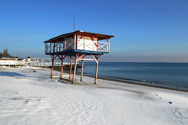 одесса зима пляж черное море