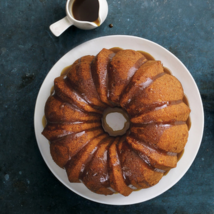 Apple Bundt Cake with Brown-Sugar Glaze Recipe | Yummly