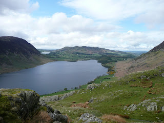 Crummock Water with Loweswater just coming into view