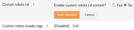 custom robot.txt