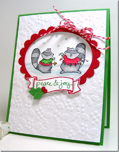 LeAnne Pugliese WeeInklings Patience Brewster Inspired Christmas Card Merry Crittermas Stampin Up
