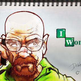 Heisenberg triumphant by Dave Bernard - Drawing All Drawing ( pencil, heisenberg, sketch, green, tv, white, show, brown, breaking bad, walter,  )