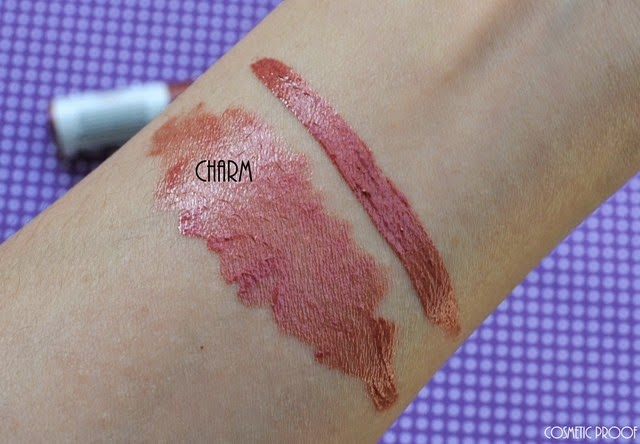 Elate Clean Cosmetics Moisturizing Lip Gloss in Charm Review Swatch (2)