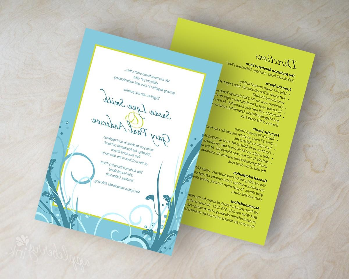Wedding invitations, polka
