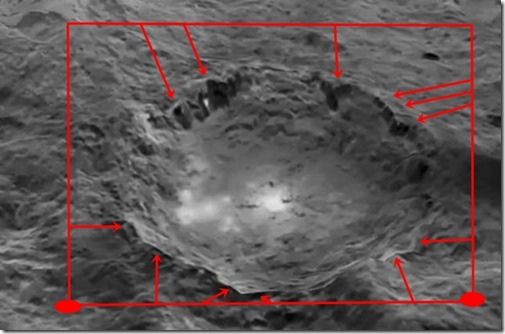 Ceres planet artificial structures cratere  Occator