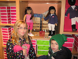 Hannah and Bryan in the American Girl store in Chicago 01142012