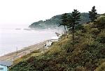 Beach view from Takahama Shogakko (Takahama Elementary School).