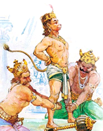 [Angada in Ravana's court]