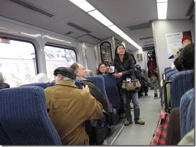 IMG_5383 Interior of TriMet Westside Express Service Train on January 30, 2009