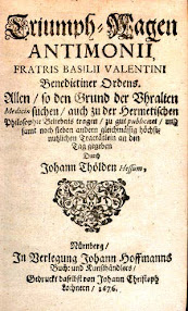 Cover of Basil Valentine's Book Triumphal Chariot Of Antimony