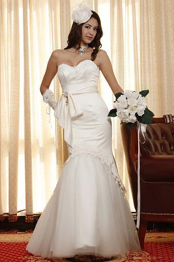 eDressit Pure White Mermaid Wedding Gown Custom make 01092107  free