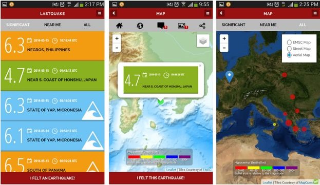 lastquake-android-application