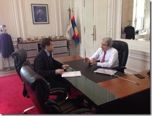 Juan Pablo de Jesús se reunió con el ministro Aníbal Fernández