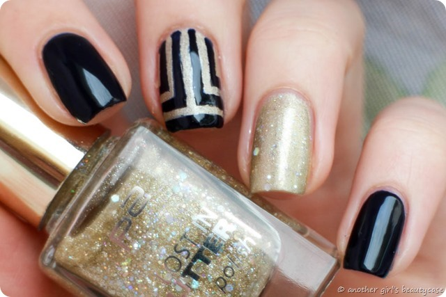 Challenge Nailartapr Accent elegant Essie After School Boy Blazer Egypt nail Vinyls Glitter Gold Blue-3
