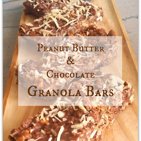 Peanut Butter and Chocolate Chewy Granola Bars