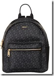 DKNY coated leather logo backpack
