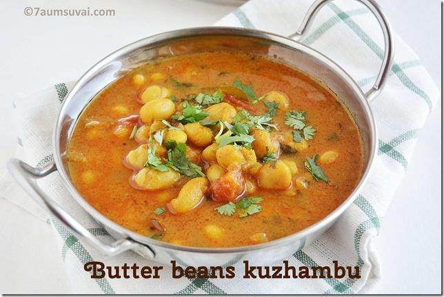 Butter beans kuzhambu