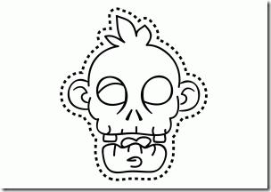 mascara zombi