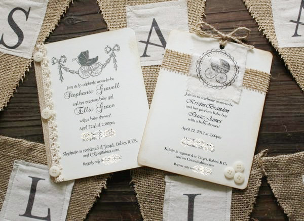 Burlap Banner Tutorial & Baby Shower Things