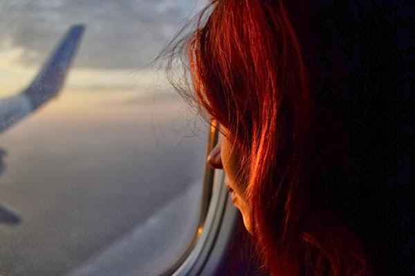 Самолет, полет, вид из окна