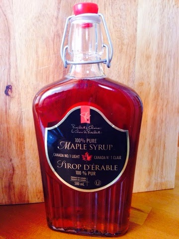 Bottle of Canadian maple syrup