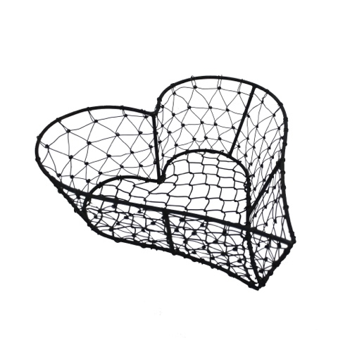 Wire Knot Heart Basket - Little House Lovely