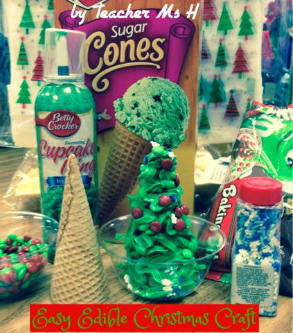 Frosted Edible Christmas Tree Craft