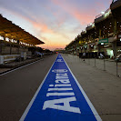 The Pit lane on Saterday Evening