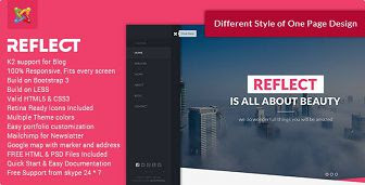 Reflect - Creative One Page Joomla Theme