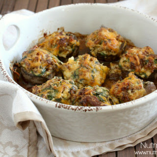 Sausage and Spinach Stuffed Mushrooms