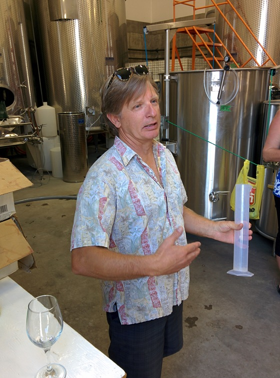Serendipity Winemaker Bradley Cooper fetches tank samples