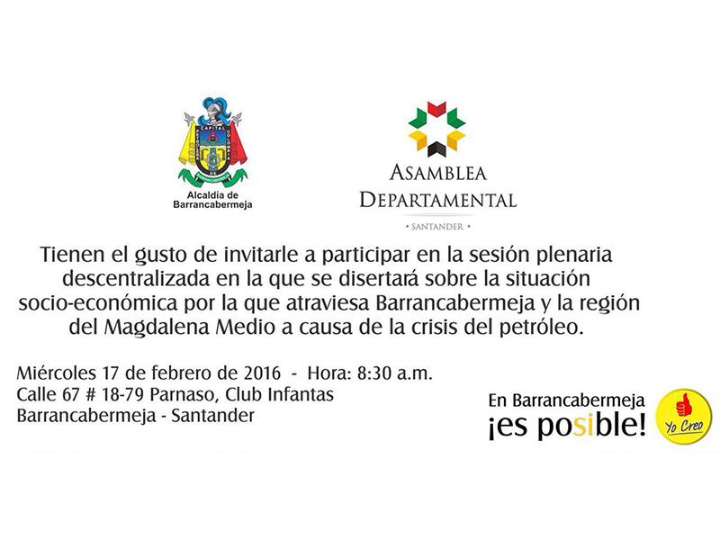 Sesión plenaria Barrancabermeja miércoles 17 de febrero de 2016