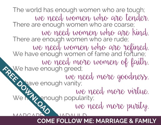 Come Follow Me: Marriage & Family | Tons of Handouts for Free Download