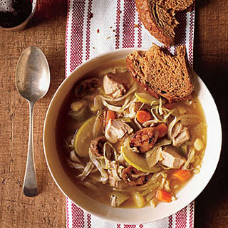 Chicken Soup with Cabbage and Apple
