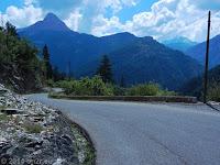 Auf der Nordrampe des Col d'Allos (2247 m) Richtung Barcelonnette.
