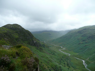 Low cloud up Langstrath valley